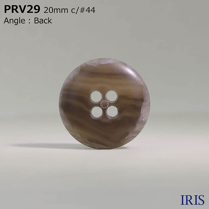 PRV29 ユリア樹脂 表穴4つ穴ボタン  3サイズ5色展開