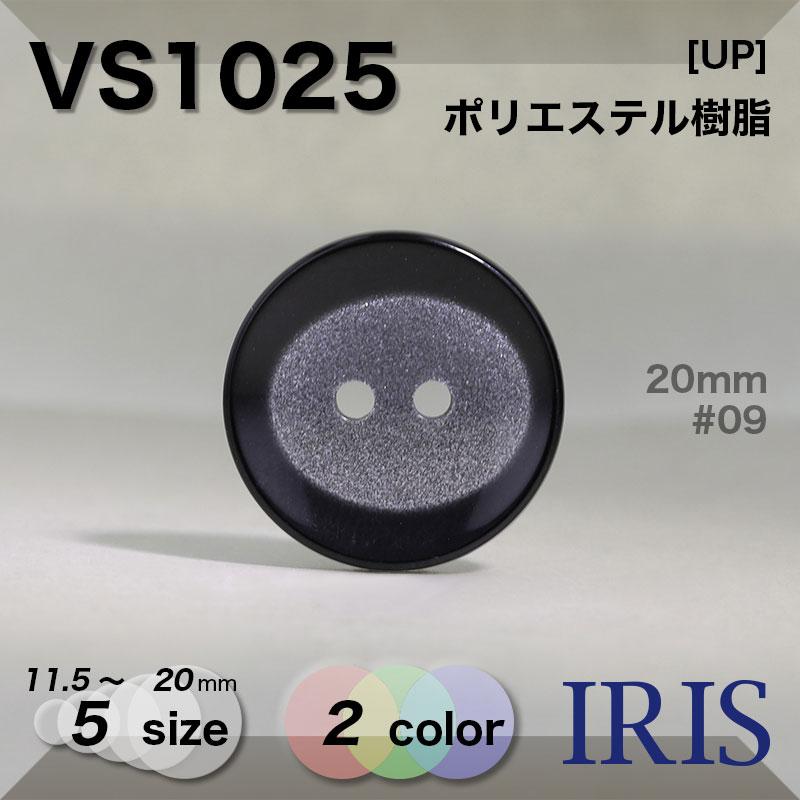 VS1025 ポリエステル樹脂 表穴2つ穴ボタン  5サイズ2色展開