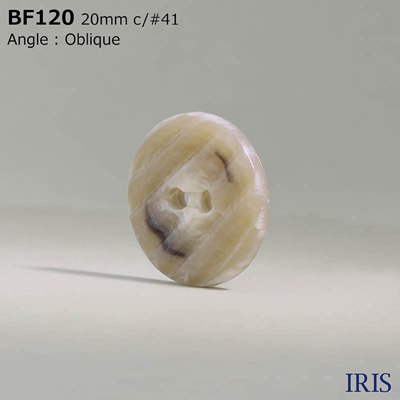 BF120 ユリア樹脂 表穴2つ穴ボタン  7サイズ10色展開