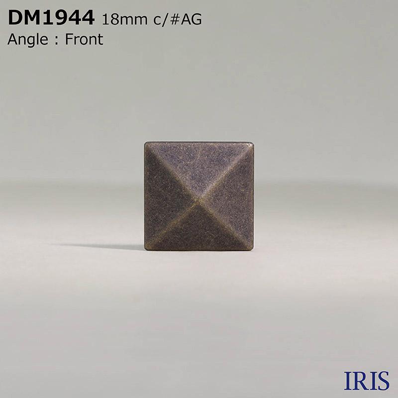 DM1944 ダイカスト 半丸カン足ボタン  3サイズ3色展開