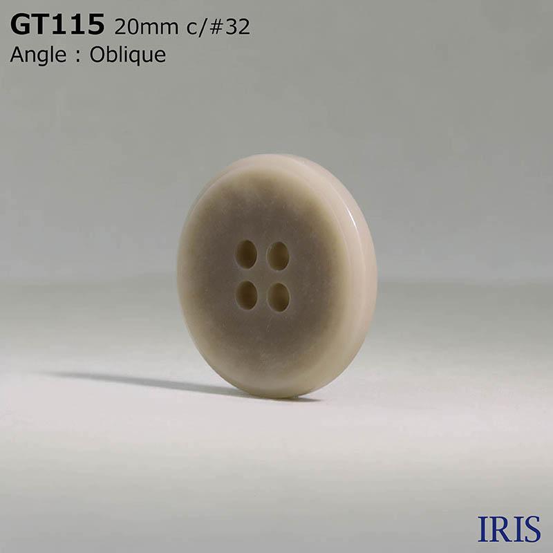 GT115 ポリエステル樹脂 表穴4つ穴ボタン  3サイズ10色展開