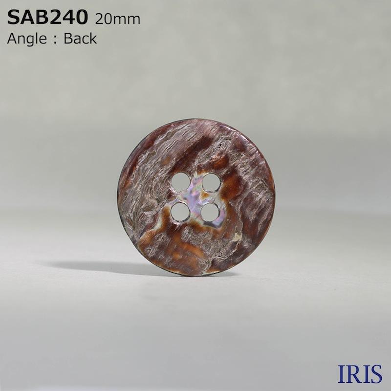 SAB240 貝全般 表穴4つ穴ボタン  7サイズ1色展開