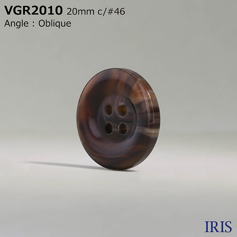 VGR2010 ポリエステル樹脂 表穴4つ穴ボタン  4サイズ12色展開