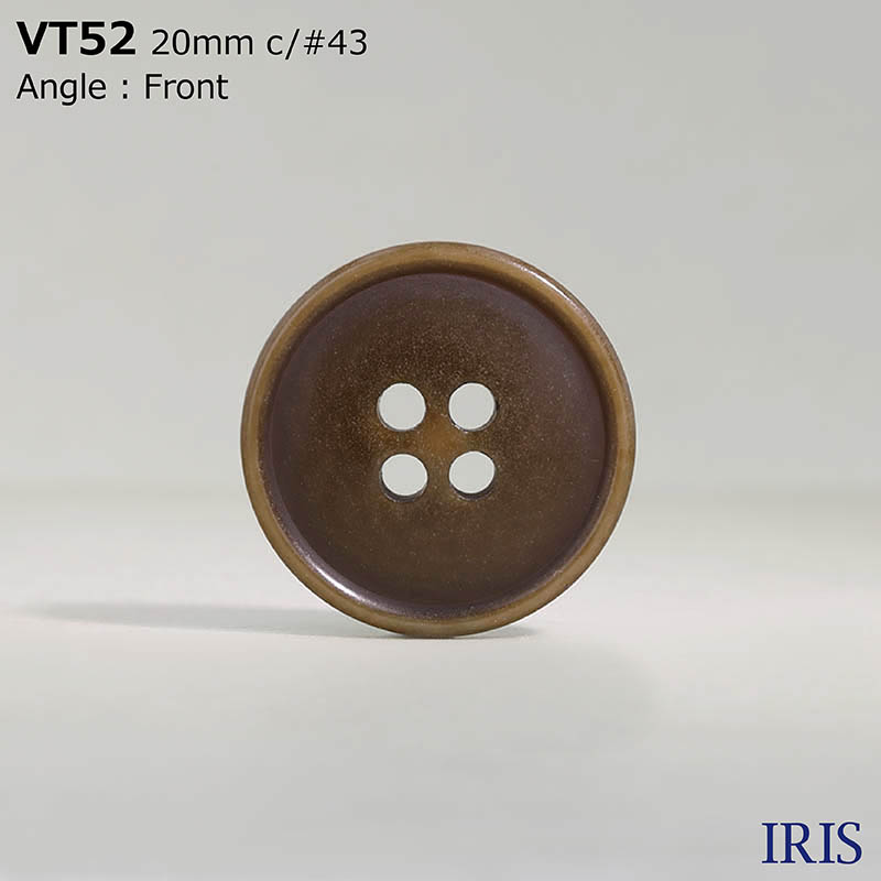 VT52 ポリエステル樹脂 表穴4つ穴ボタン  5サイズ10色展開