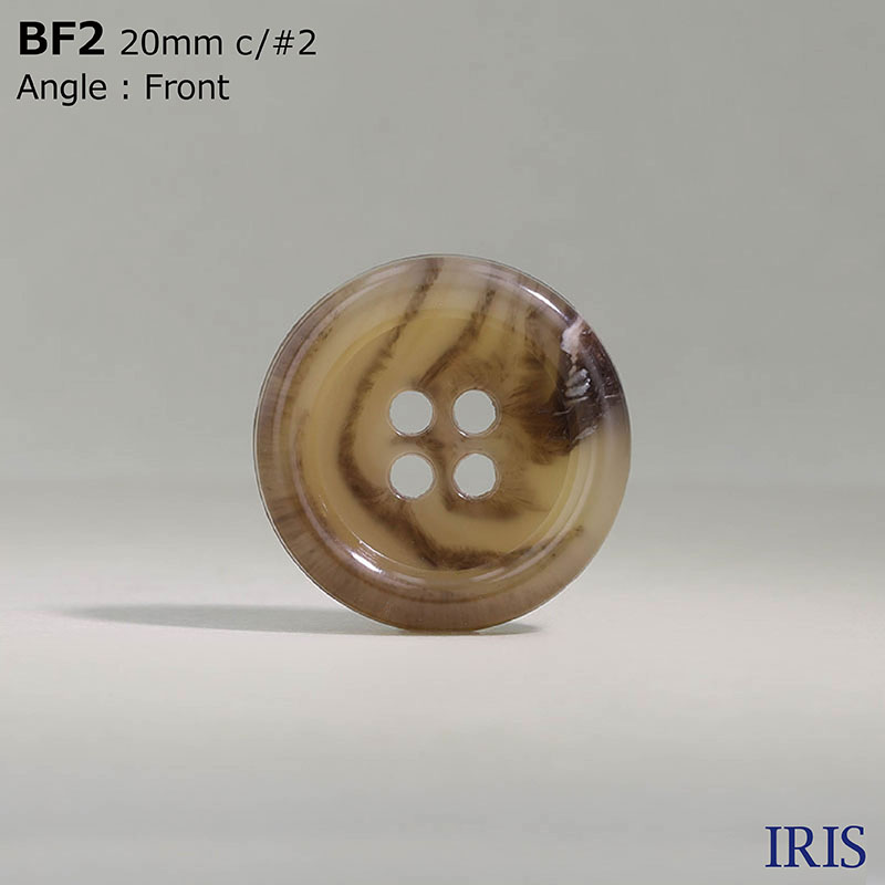 BF2 ユリア樹脂 表穴4つ穴ボタン  7サイズ15色展開