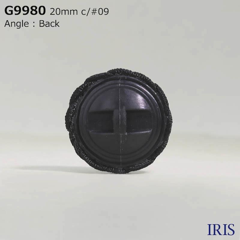 G9980 コード/ナイロン樹脂 トンネル足ボタン  3サイズ1色展開