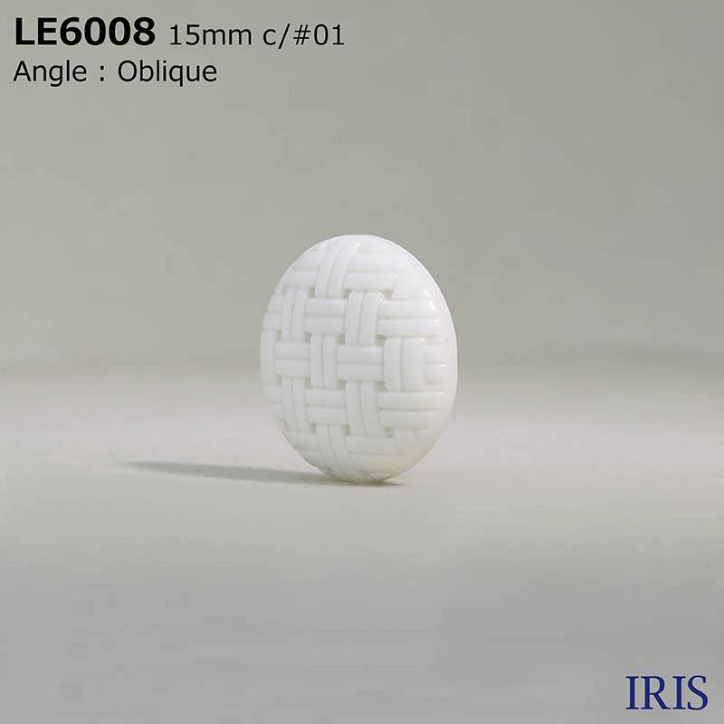 LE6008 カゼイン樹脂 トンネル足ボタン  3サイズ2色展開