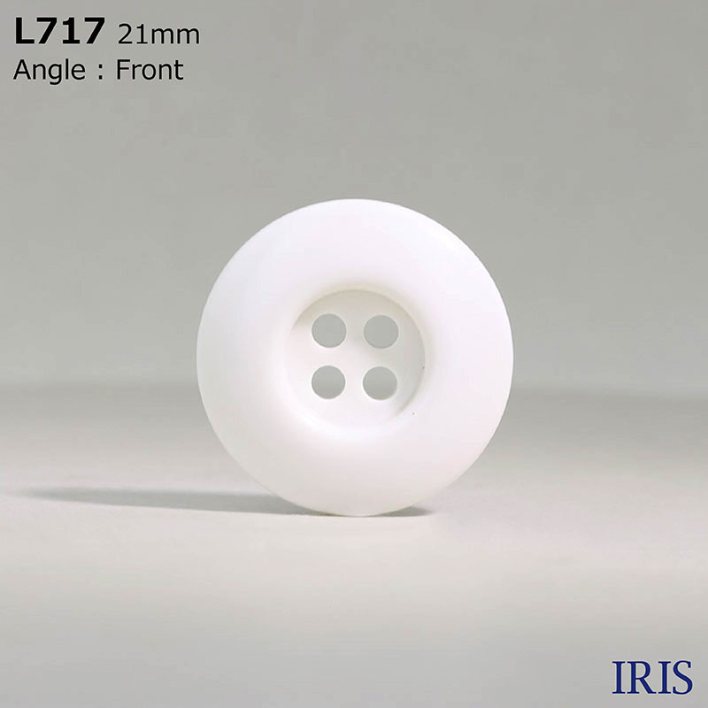 L717 カゼイン樹脂 表穴4つ穴ボタン  9サイズ1色展開