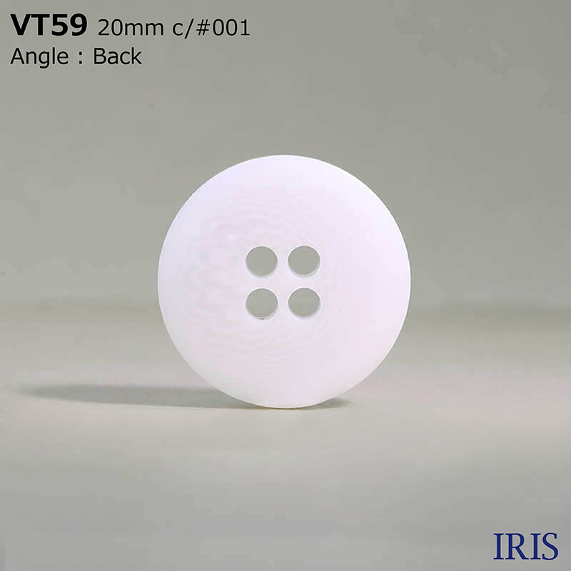 VT59 ポリエステル樹脂 表穴4つ穴ボタン  8サイズ1色展開