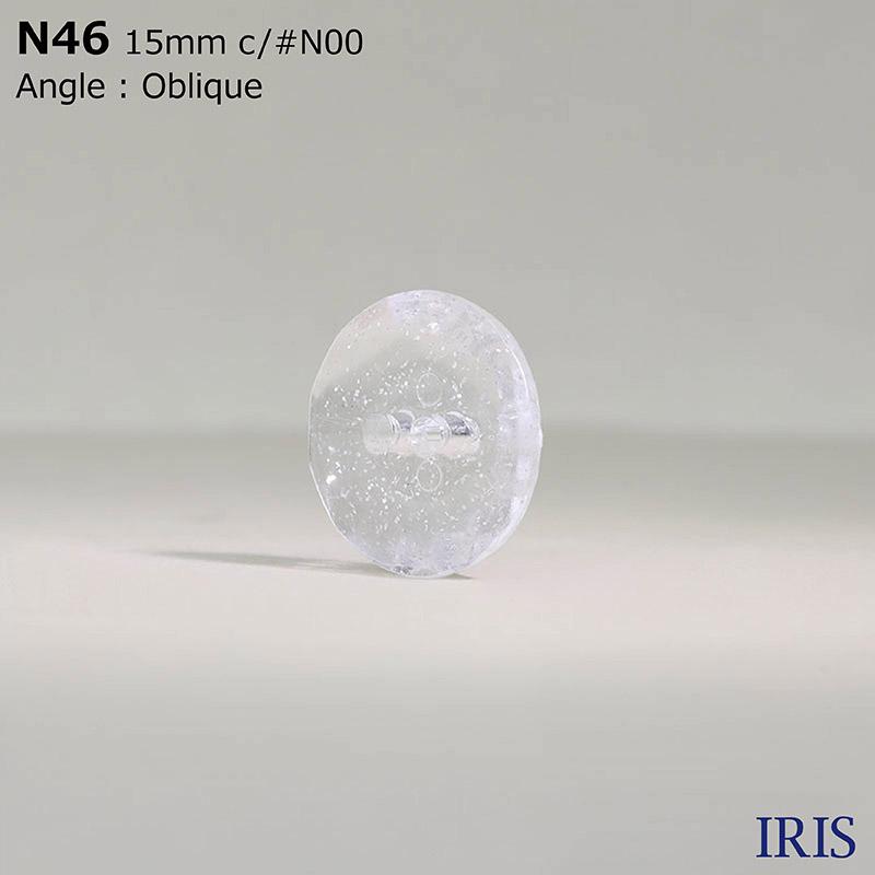 N46 ナイロン樹脂 表穴2つ穴ボタン  4サイズ3色展開