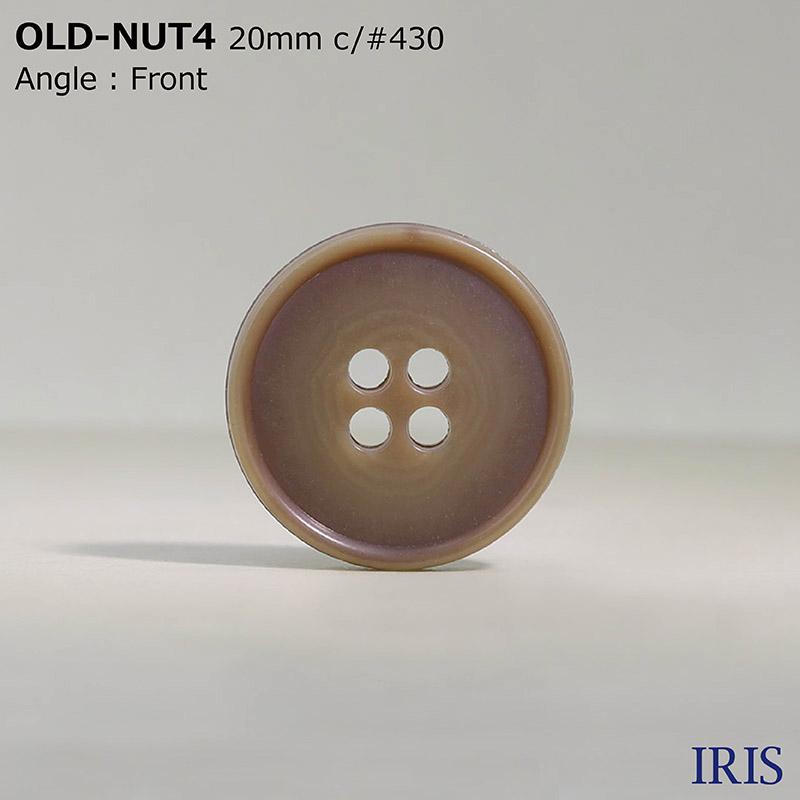 OLD-NUT4 ユリア樹脂 表穴4つ穴ボタン  5サイズ13色展開