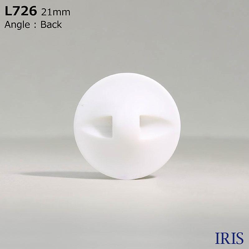 L726 カゼイン樹脂 トンネル足ボタン  10サイズ2色展開