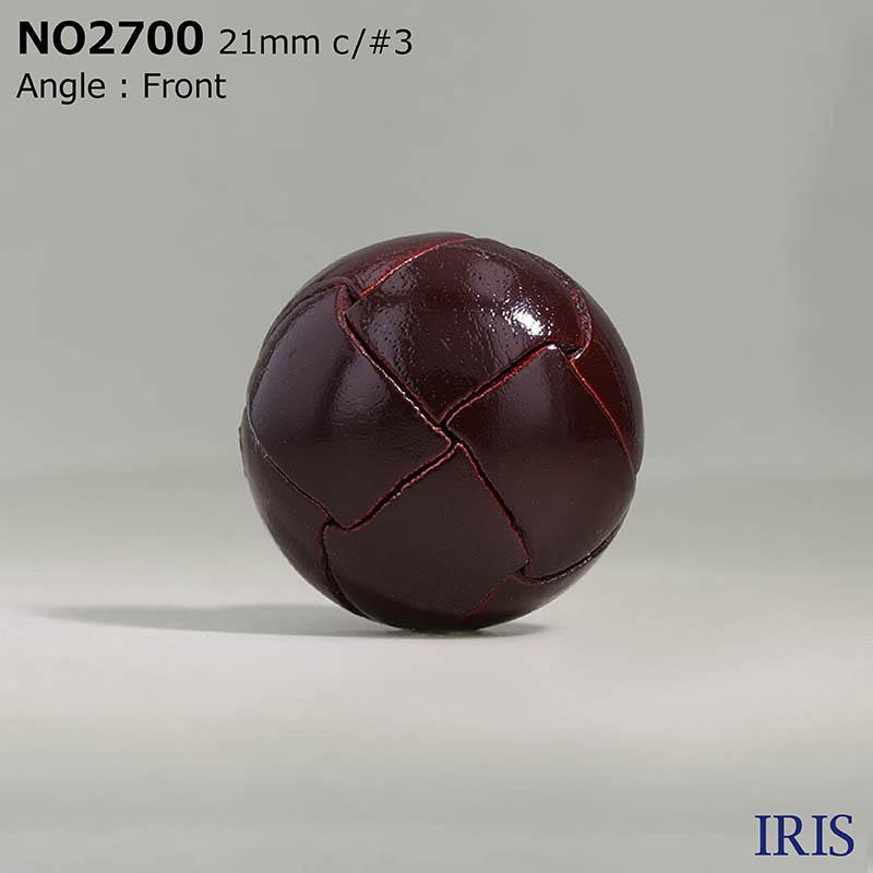 NO2700 皮革 その他ボタン  4サイズ4色展開