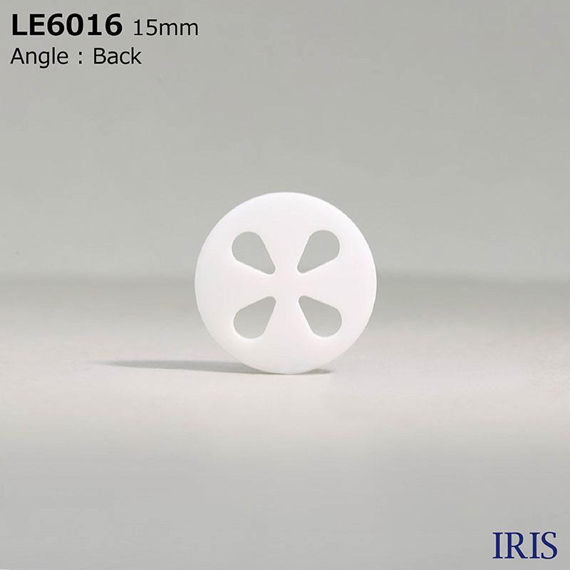 LE6016 カゼイン樹脂 表穴4つ穴ボタン  4サイズ1色展開