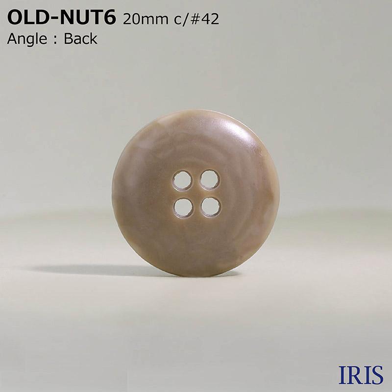 OLD-NUT6 ユリア樹脂 表穴4つ穴ボタン  5サイズ12色展開