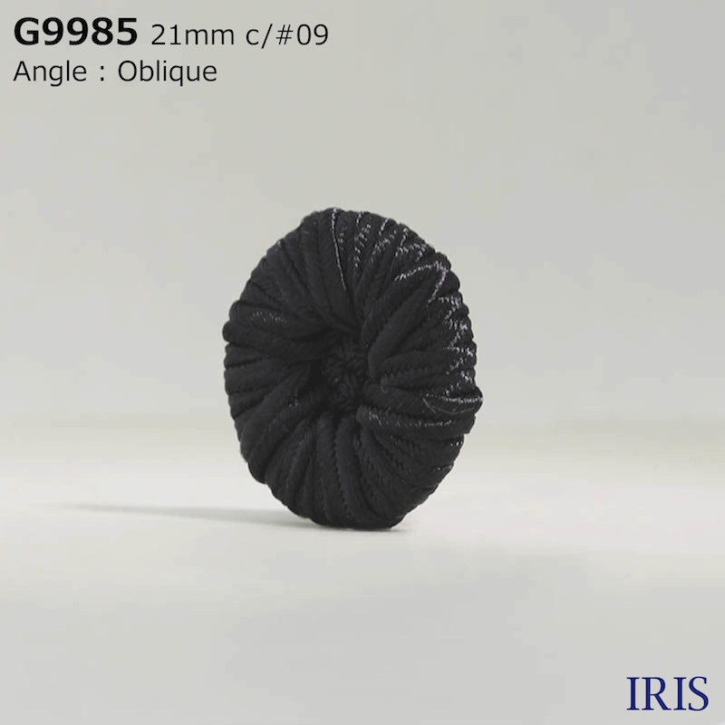 G9985 コード/ナイロン樹脂 トンネル足ボタン  3サイズ1色展開