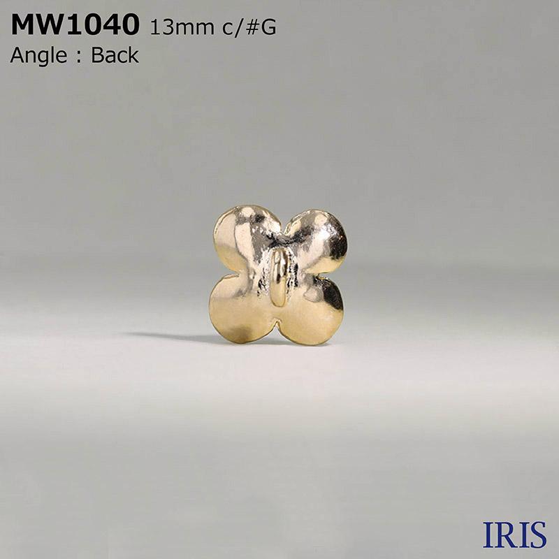 MW1040 パールコーティング/キャスト 半丸カン足ボタン  1サイズ2色展開
