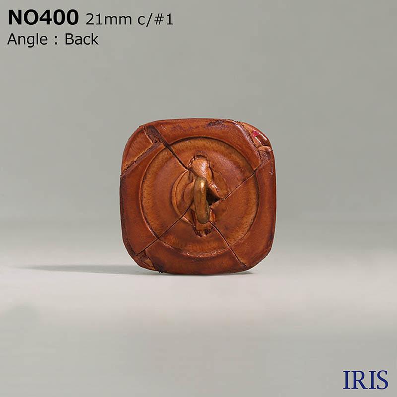 NO400 皮革/真鍮 角カン足ボタン  4サイズ4色展開