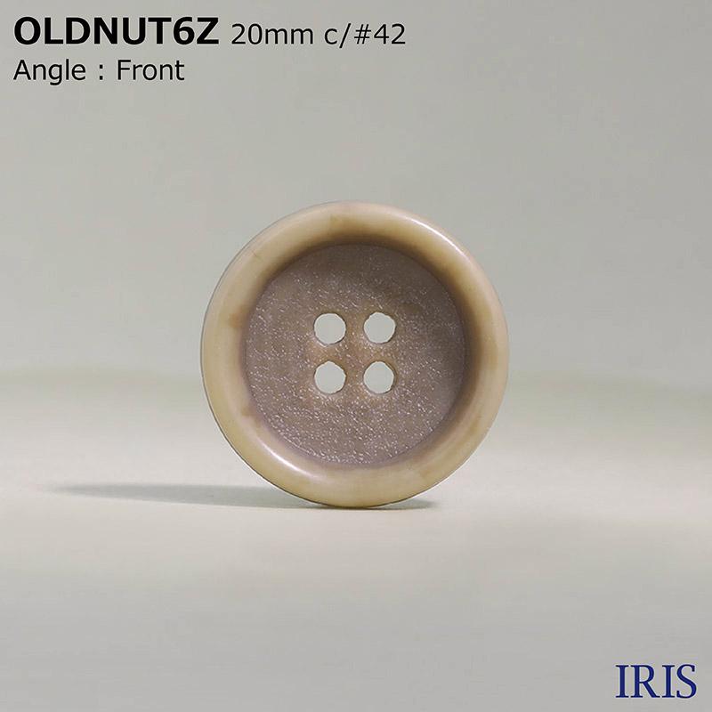 OLDNUT6Z ユリア樹脂 表穴4つ穴ボタン  5サイズ12色展開