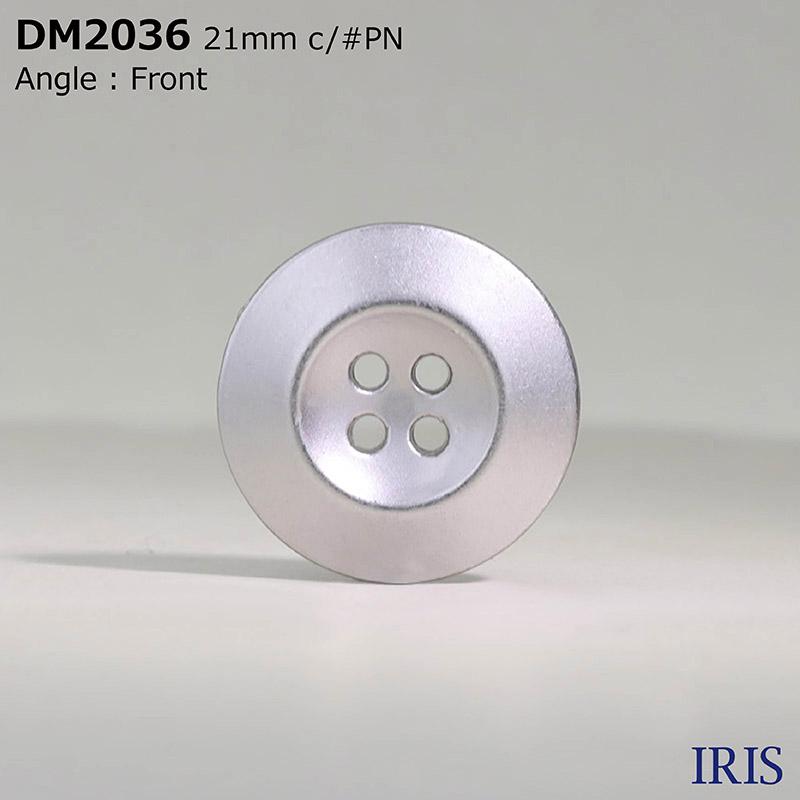 DM2036 ダイカスト 表穴4つ穴ボタン  5サイズ5色展開