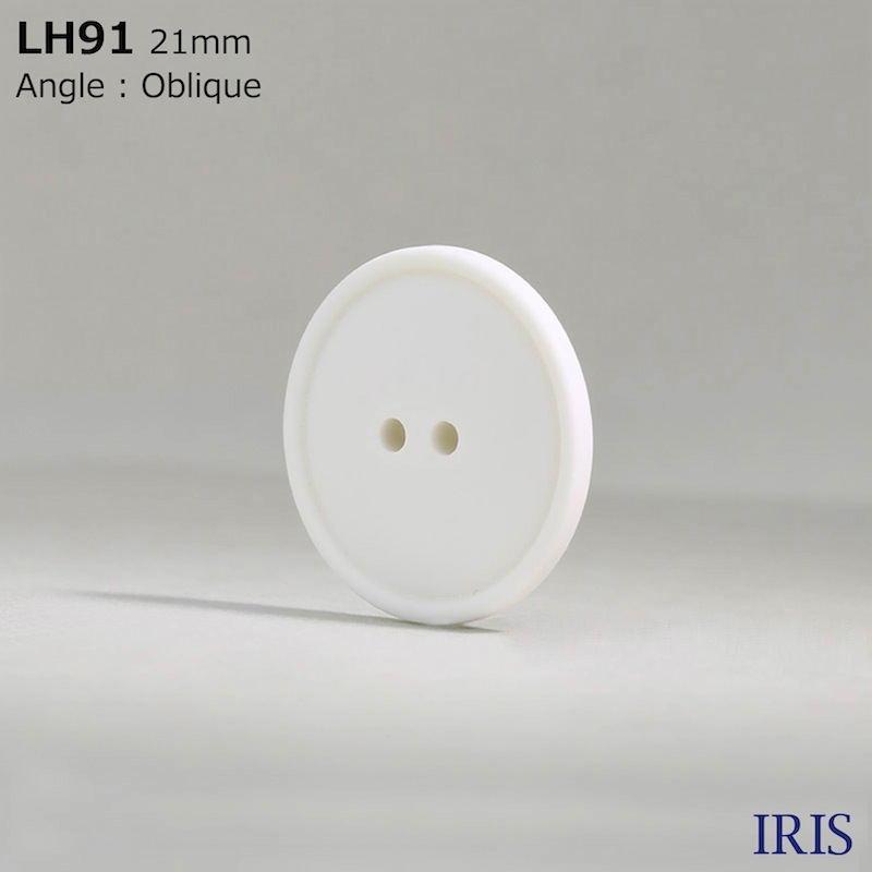 LH91 カゼイン樹脂 表穴2つ穴ボタン  6サイズ1色展開