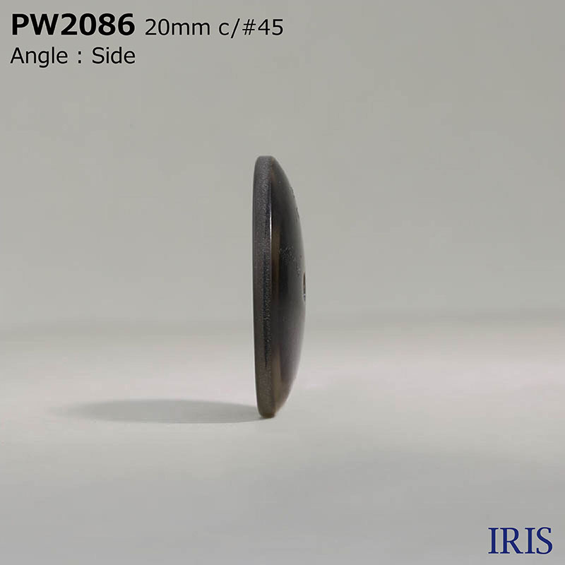 PW2086 ポリエステル樹脂 表穴2つ穴ボタン  6サイズ5色展開