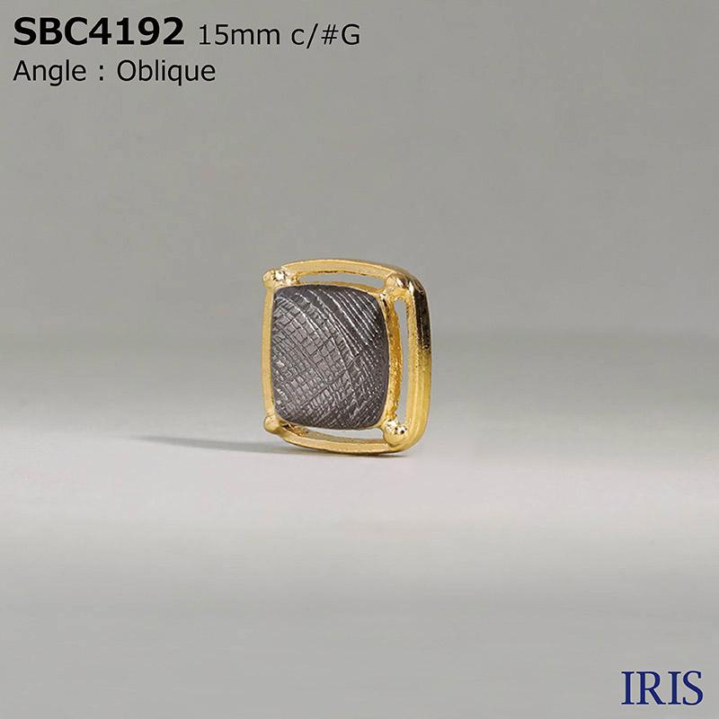 SBC4192 エポキシ樹脂/ハイメタル 半丸カン足ボタン  2サイズ1色展開