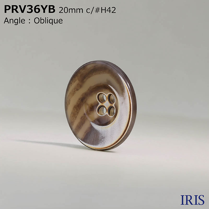 PRV36YB ユリア樹脂 表穴4つ穴ボタン  5サイズ10色展開