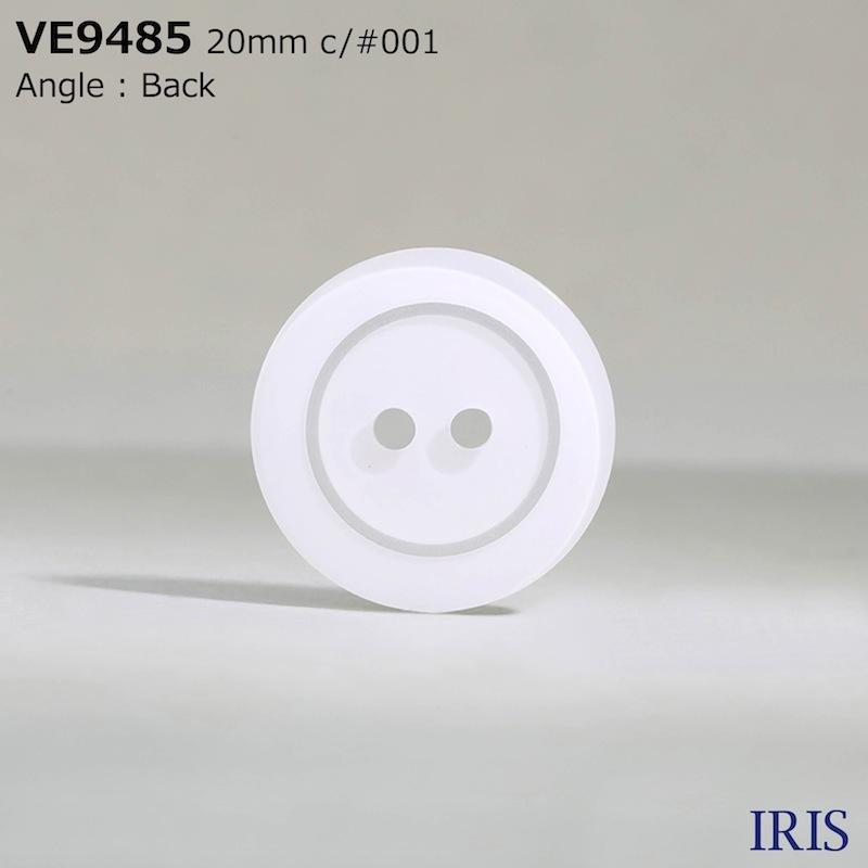 VE9485 ポリエステル樹脂 表穴2つ穴ボタン  5サイズ2色展開