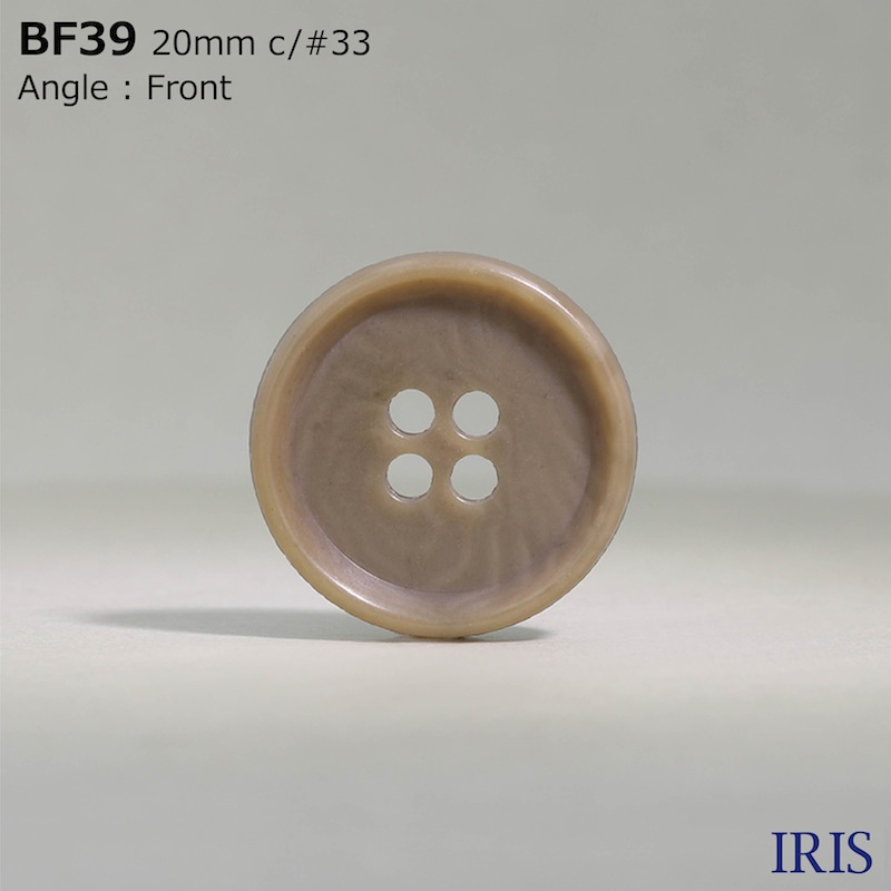 BF39 ユリア樹脂 表穴4つ穴ボタン  8サイズ46色展開