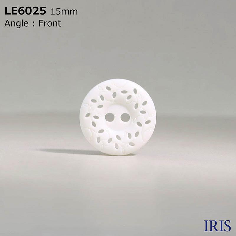 LE6025 カゼイン樹脂 表穴2つ穴ボタン  3サイズ1色展開