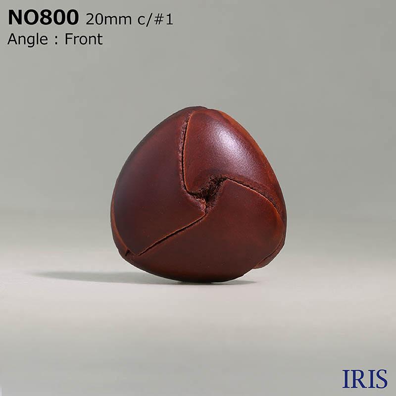 NO800 皮革/真鍮 角カン足ボタン  4サイズ4色展開