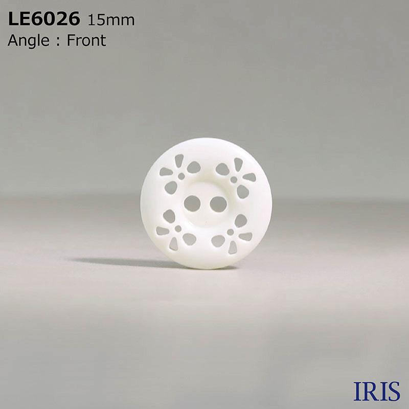 LE6026 カゼイン樹脂 表穴2つ穴ボタン  3サイズ1色展開