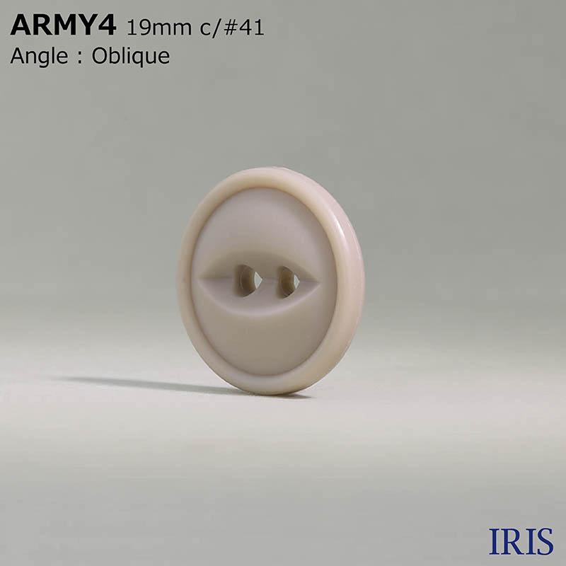 ARMY4 ユリア樹脂 表穴2つ穴ボタン  6サイズ11色展開