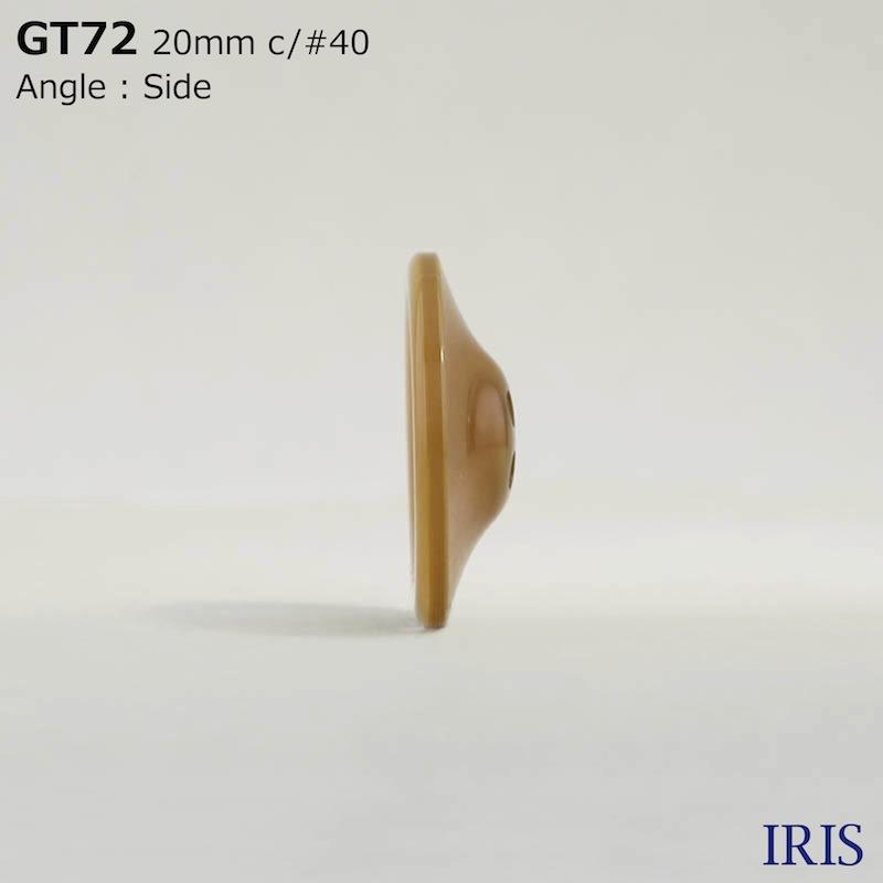 GT72 ポリエステル樹脂 表穴4つ穴ボタン  5サイズ5色展開