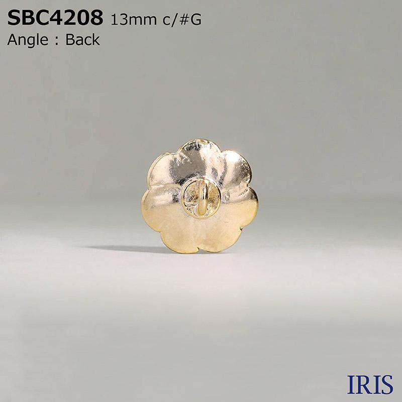 SBC4208 ガラス/ハイメタル 半丸カン足ボタン  2サイズ3色展開