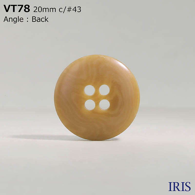 VT78 ポリエステル樹脂 表穴4つ穴ボタン  5サイズ18色展開