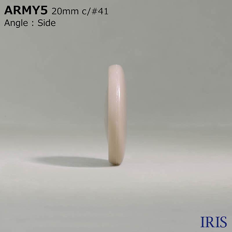ARMY5 ユリア樹脂 表穴4つ穴ボタン  5サイズ10色展開