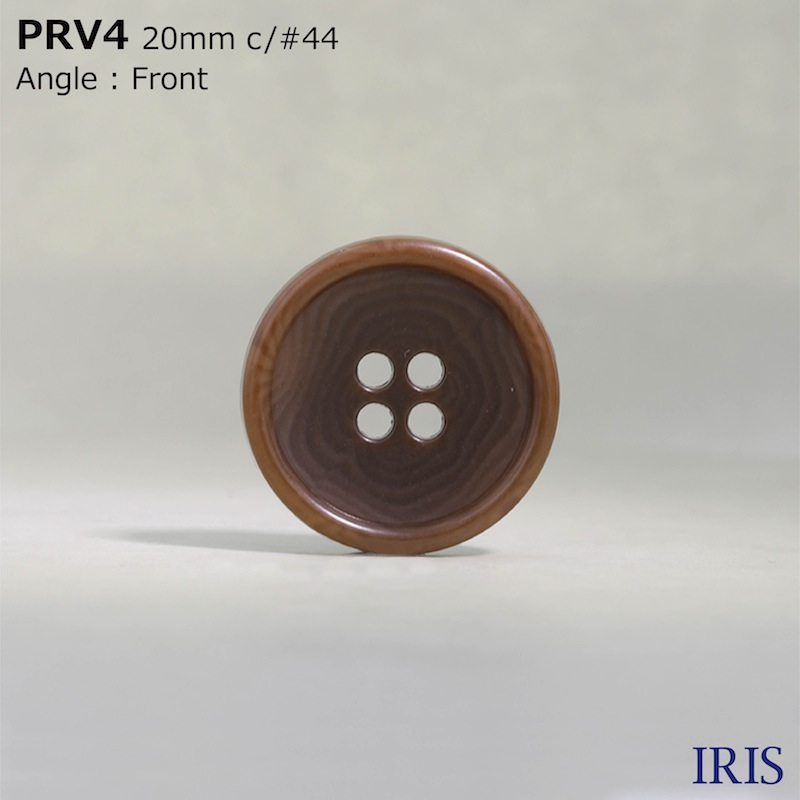 PRV4 ユリア樹脂 表穴4つ穴ボタン  8サイズ20色展開
