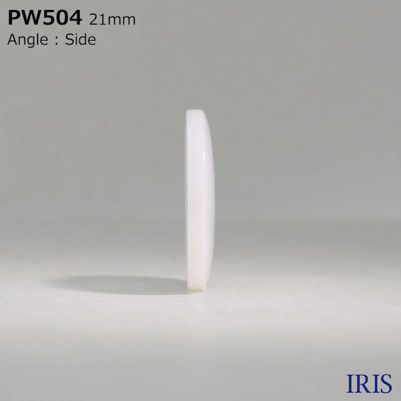 PW504 ポリエステル樹脂 表穴4つ穴ボタン  7サイズ1色展開