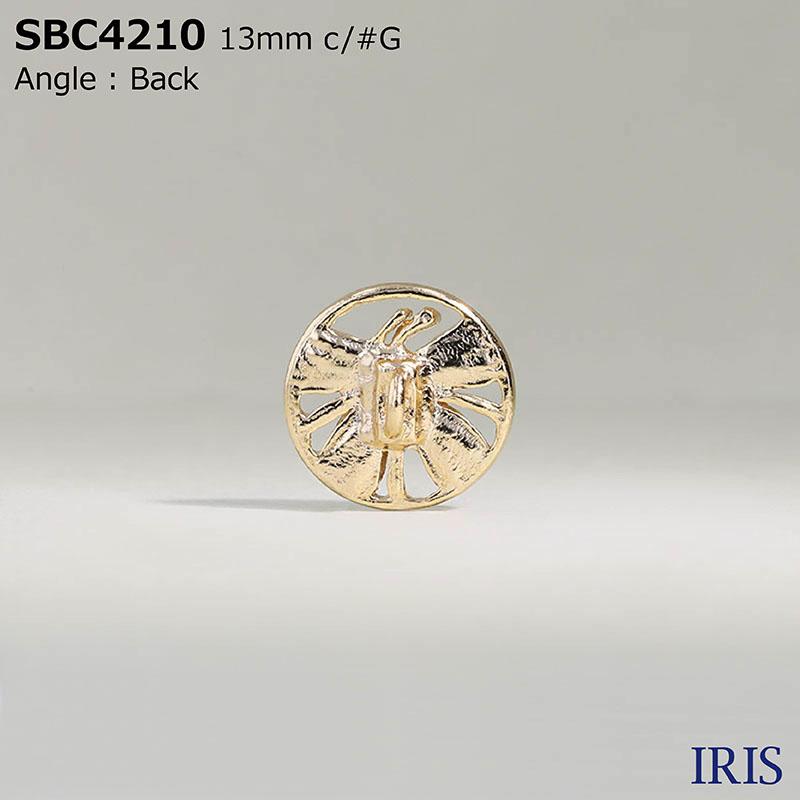 SBC4210 エポキシ樹脂/ハイメタル 半丸カン足ボタン  2サイズ2色展開