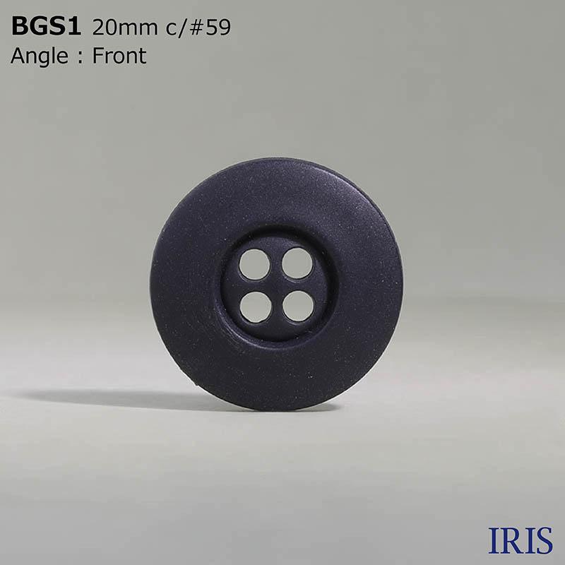 BGS1 ポリエチレン樹脂 表穴4つ穴ボタン  2サイズ3色展開