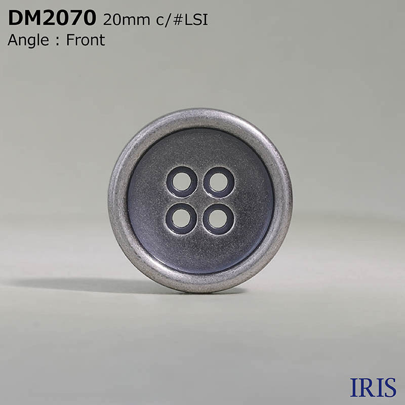 DM2070 ダイカスト 表穴4つ穴ボタン  3サイズ3色展開