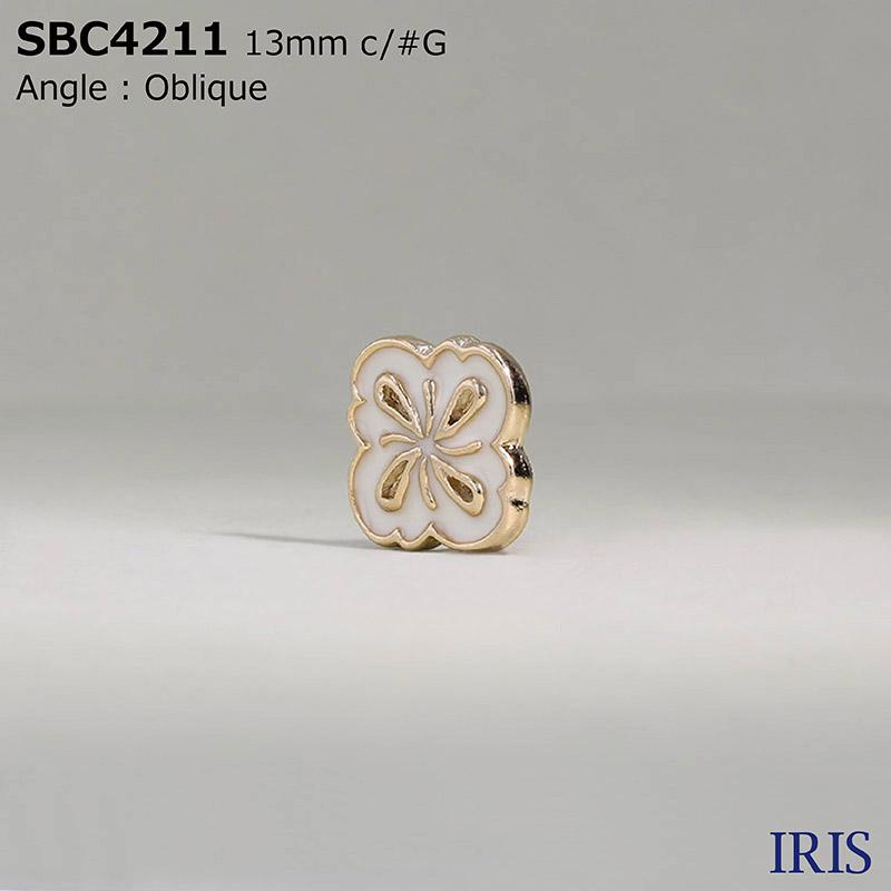 SBC4211 エポキシ樹脂/ハイメタル 半丸カン足ボタン  2サイズ2色展開
