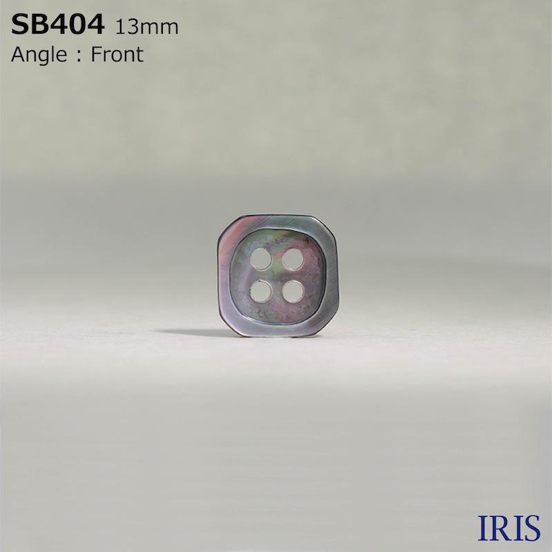 SB404 黒蝶貝 表穴4つ穴ボタン  3サイズ1色展開