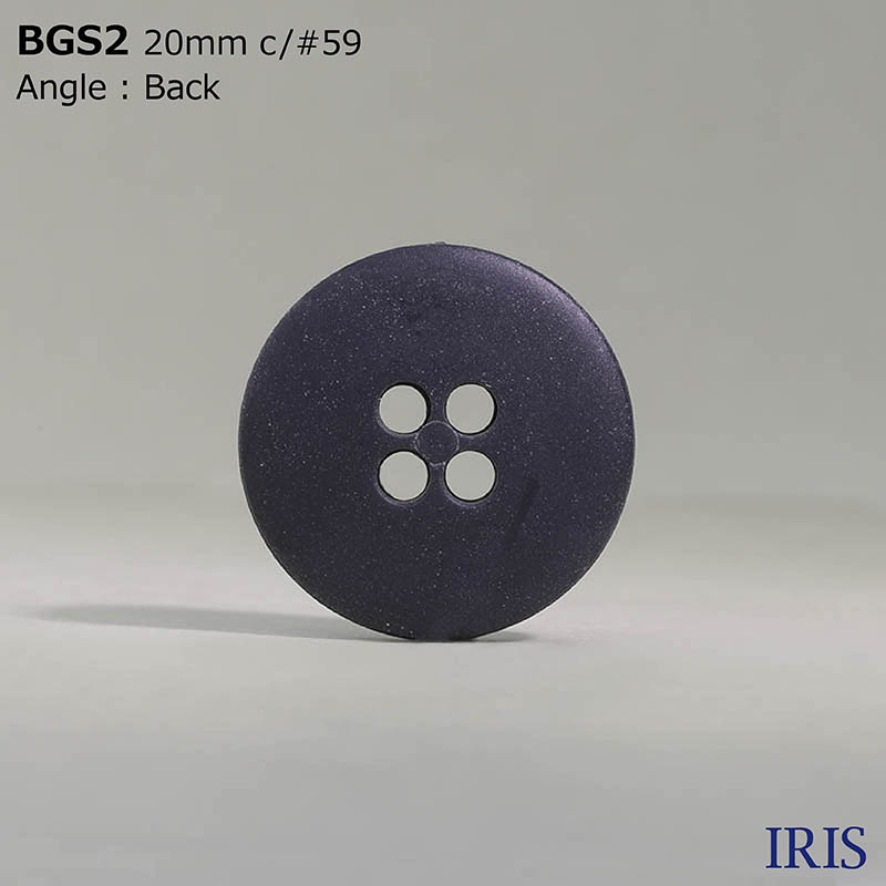 BGS2 ポリエチレン樹脂 表穴4つ穴ボタン  2サイズ3色展開