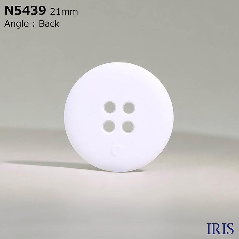 N5439 ナイロン樹脂 表穴4つ穴ボタン  7サイズ1色展開