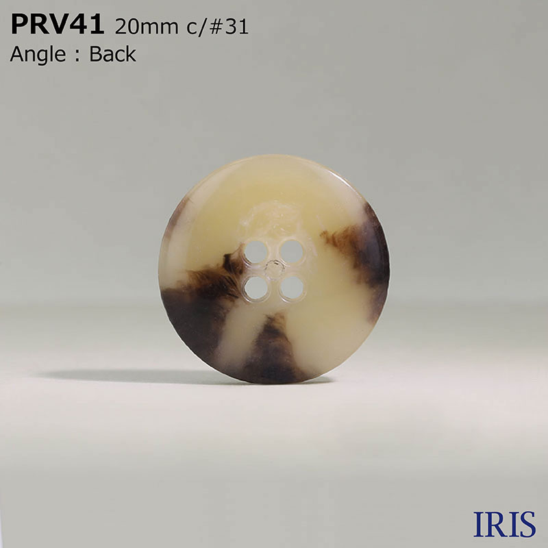 PRV41 ユリア樹脂 表穴4つ穴ボタン  5サイズ11色展開