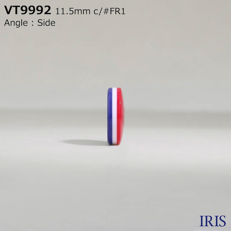 VT9992 ポリエステル樹脂 表穴4つ穴ボタン  2サイズ3色展開