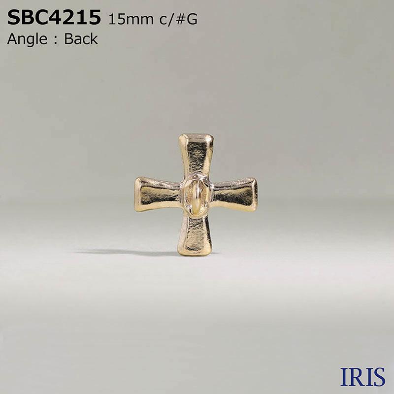 SBC4215 ガラス/ハイメタル 半丸カン足ボタン  2サイズ2色展開